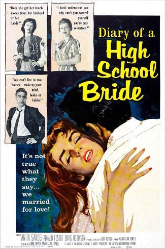 Diary of a High School Bride Art Print