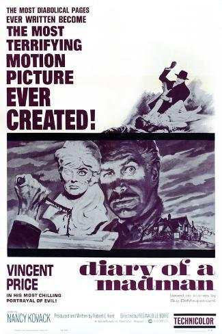 Diary of a Madman, Vincent Price, 1963 Art Print