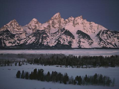 Winter View of the Teton Range Photographic Print