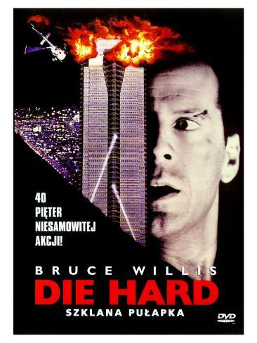 Die Hard, Polish Movie Poster, 1988 Stretched Canvas Print