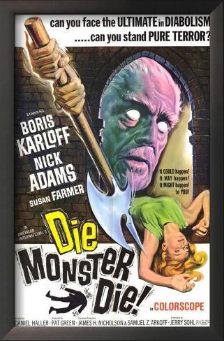 Die, Monster, Die! Impressão artística emoldurada