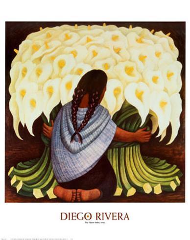 The Flower Seller, c.1942 Art Print