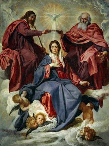 La coronación de la Virgen Lámina giclée