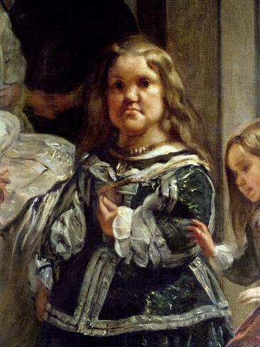 Las Meninas or the Family of Philip Iv, C.1656 Lámina giclée