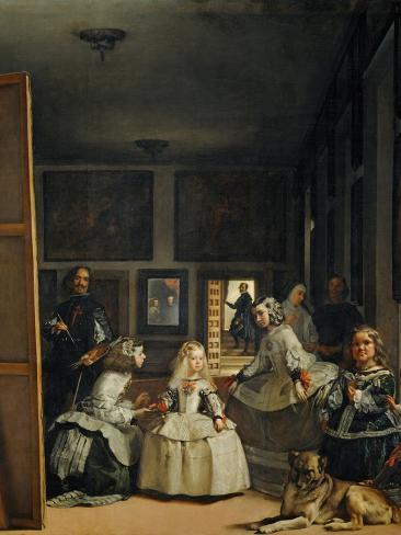 Las Meninas (With Velazquez' Self-Portrait) or the Family of Philip IV, 1656 Giclee Print