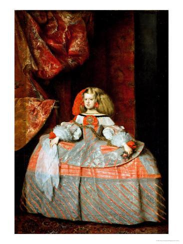 The Infanta Maria Marguerita (1651-73) in Pink Giclee Print