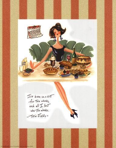 Diet Quote - Totie Fields Poster