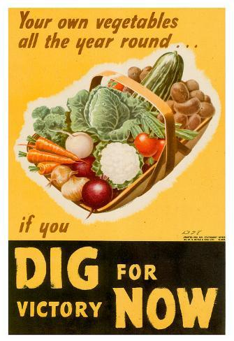 Dig For Victory Wwii War Propaganda Art Print Poster Posters At Allposters