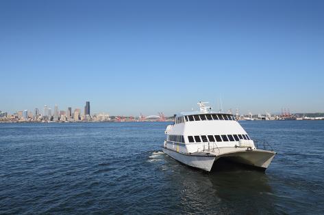 Seattle Water Taxi, Alki Beach Photographic Print