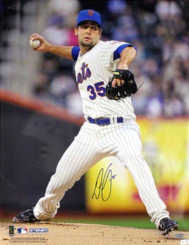 Dillon Gee New York Mets Pinstripe Jersey Pitching (MLB Auth) Foto