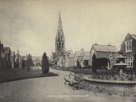 Dinham Freehouses, Exeter, Devon Photographic Print