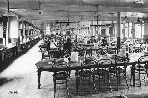 Dining Room for Employees at the Bon Marché Department Stores, Paris, C.1890 Photographic Print