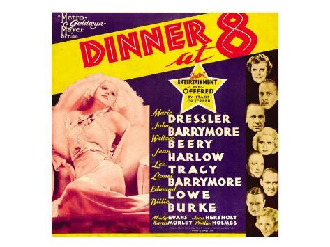 Dinner at Eight, 1933 Stretched Canvas Print