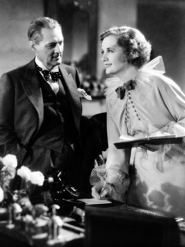 Dinner At Eight, Lionel Barrymore, Billie Burke, 1933 Stretched Canvas Print
