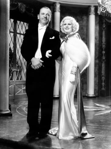 Dinner at Eight, Wallace Beery, Jean Harlow, 1933 Photo