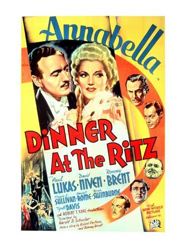 Dinner at the Ritz, David Niven, Annabella, 1937 Photo