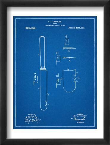 Dinner Knife Patent Framed Art Print