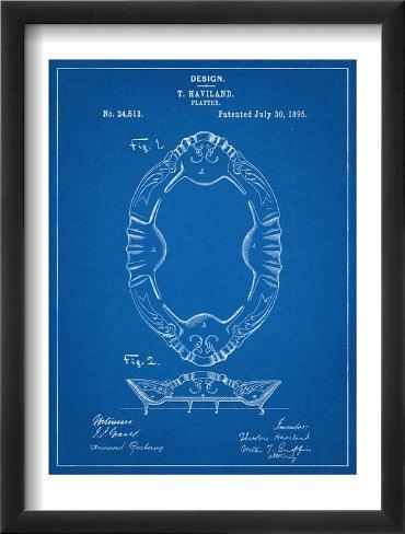 Dinner Platter Kitchen Patent Framed Art Print