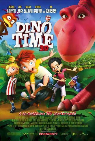 Dino Time 3D Movie Poster Masterprint