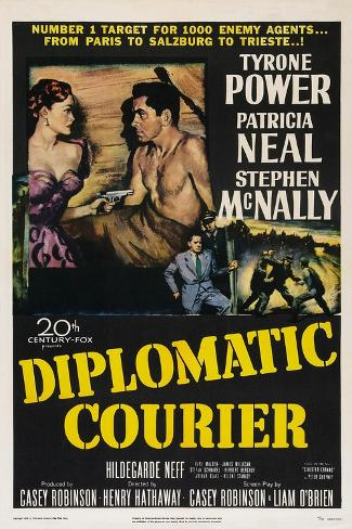 Diplomatic Courier, Patricia Neal, Tyrone Power, 1952 Art Print