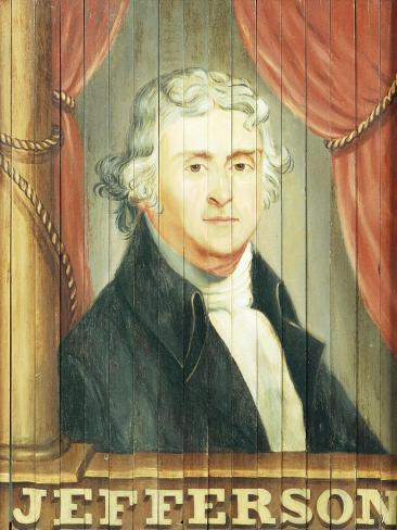 An Important Tavern Sign Depicting Thomas Jefferson and James Madison Giclee Print