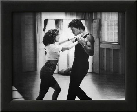 Dirty Dancing 80s Movie (Warm Up) Glossy Photo Photograph Print Impressão fotográfica emoldurada