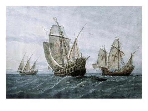 Discovery of America (1492) Art Print