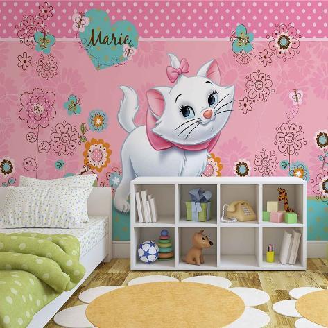 Disney Aristocats - Marie Floral Background - Vlies Non-Woven Mural Bildtapet