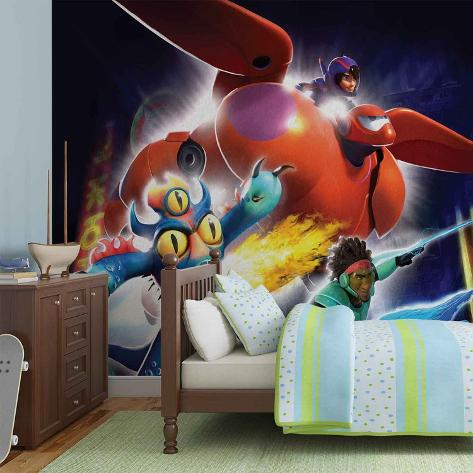 Disney Big Hero 6 - Group Flight - Vlies Non-Woven Mural Vlies Wallpaper Mural