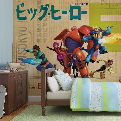 Disney Big Hero 6 - Group Pose - Vlies Non-Woven Mural Vlies Wallpaper Mural