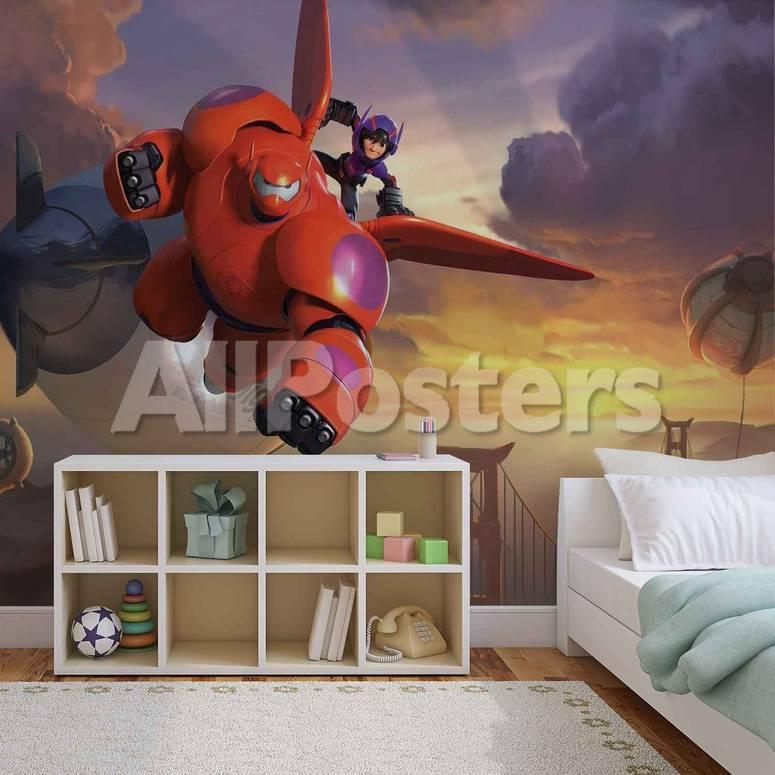 Disney Big Hero 6 - Hiro and Baymax - Vlies Non-Woven Mural Mural de ...