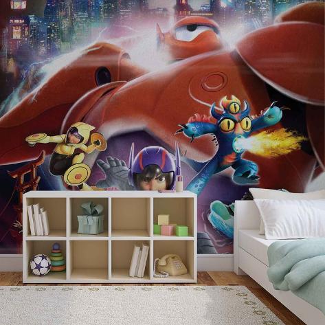 Disney Big Hero 6 - Hiro, Go Go, Fredzilla - Vlies Non-Woven Mural Vlies Wallpaper Mural