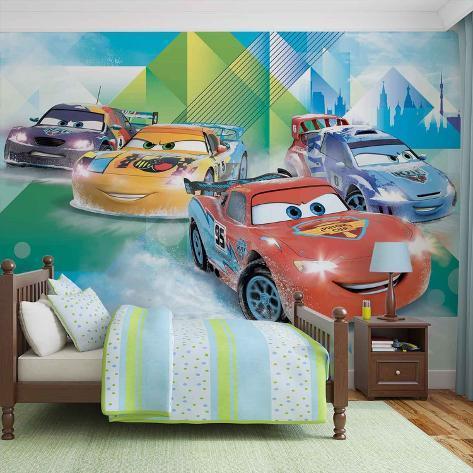 Disney Cars - Lightning McQueen and Miguel Camino - Vlies Non-Woven Mural Carta da parati decorativa