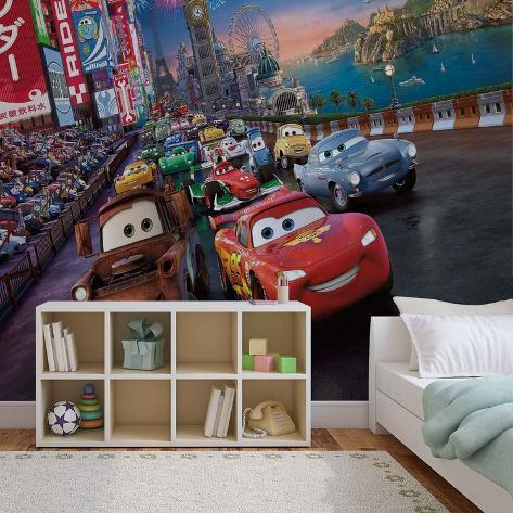 Disney Cars - Lightning McQueen London Race Wallpaper Mural