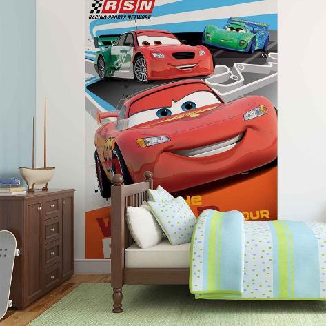 Disney Cars - Lightning McQueen Racing Wallpaper Mural