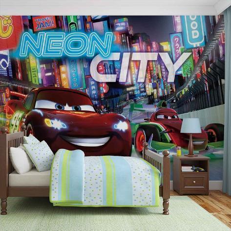 Disney Cars - Neon City - Vlies Non-Woven Mural Carta da parati decorativa