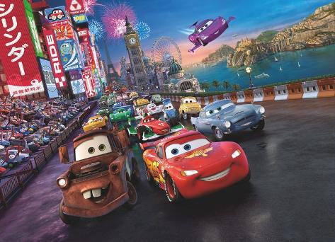 Disney Cars - Race Carta da parati decorativa