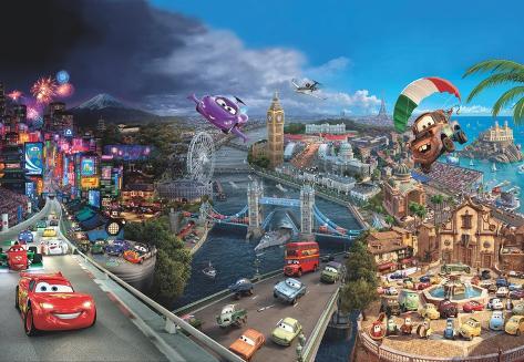 Disney Cars - World Wallpaper Mural