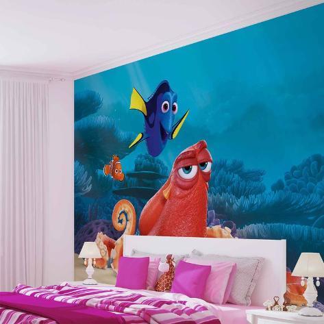 Disney Finding Dory - Nemo, Dory, Hank - Vlies Non-Woven Mural Carta da parati decorativa