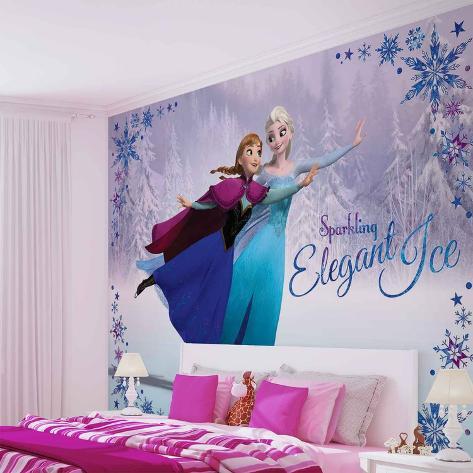 Disney Frozen - Elsa and Anna Skating - Vlies Non-Woven Mural Vlies Wallpaper Mural