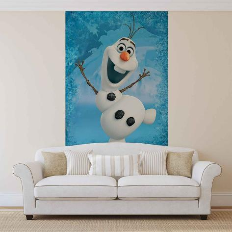Disney Frozen-Il regno di ghiaccio - Olaf Carta da parati decorativa
