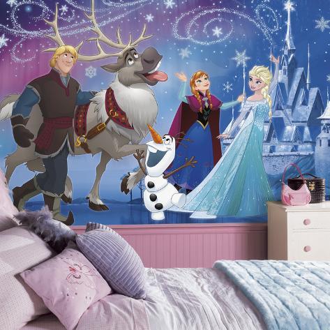 Disney Frozen Magic XL Chair Rail Prepasted Mural Wallpaper Mural