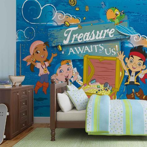 Disney Jake & the Neverland Pirates - Treasure Awaits - Vlies Non-Woven Mural Vlies Wallpaper Mural