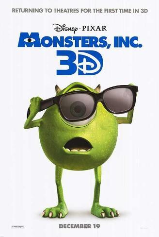 Disney - Pixar's Monsters Inc 3D Double-sided poster