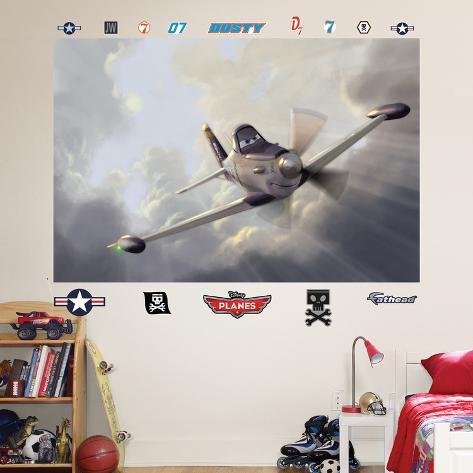 Disney planes dusty mural wall decal wall mural for Disney planes wall mural