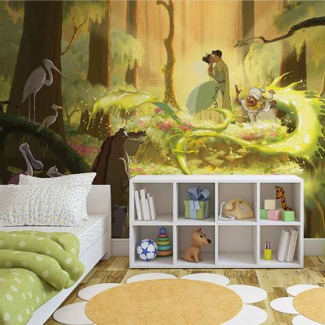 Disney Princess and the Frog - Tiana Kiss - Vlies Non-Woven Mural Carta da parati decorativa