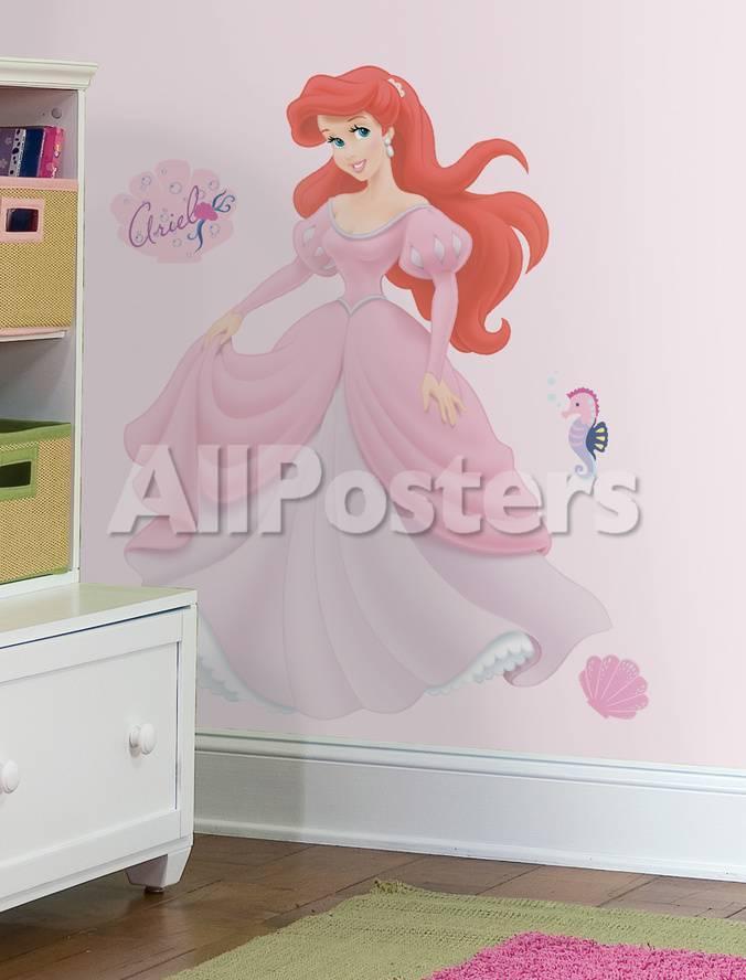 disney princess - ariel peel & stick giant wall decal seinätarra