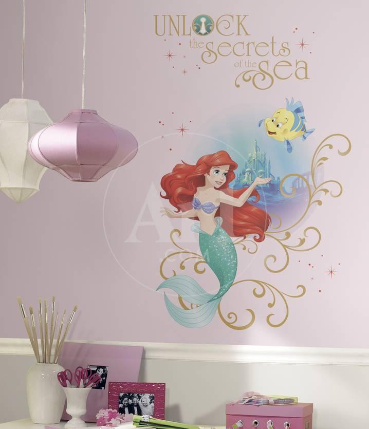 Disney Princess Ariel Sea Peel And Stick Giant Wall Graphic Vinilo ...