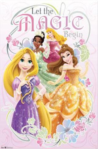 Disney Princess - Nouveau - Let the Magic Begin Poster