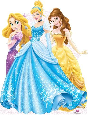 Disney Princesses Group Lifesize Standup Cardboard Cutouts